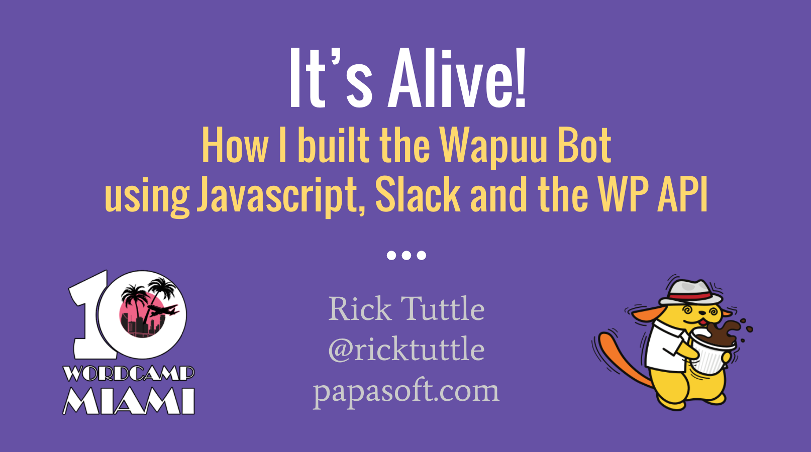 How I Built Wapuu Bot - Rick Tuttle